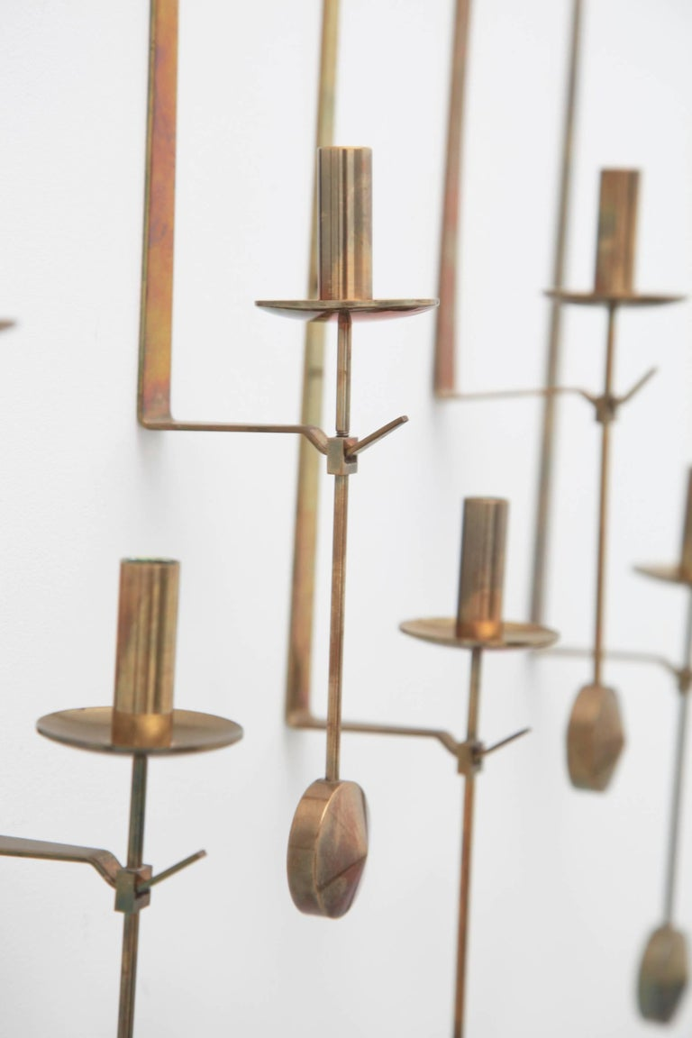 Wall Candleholders by Pierre Forssell, Skultuna, Sweden, 1950s For Sale 1