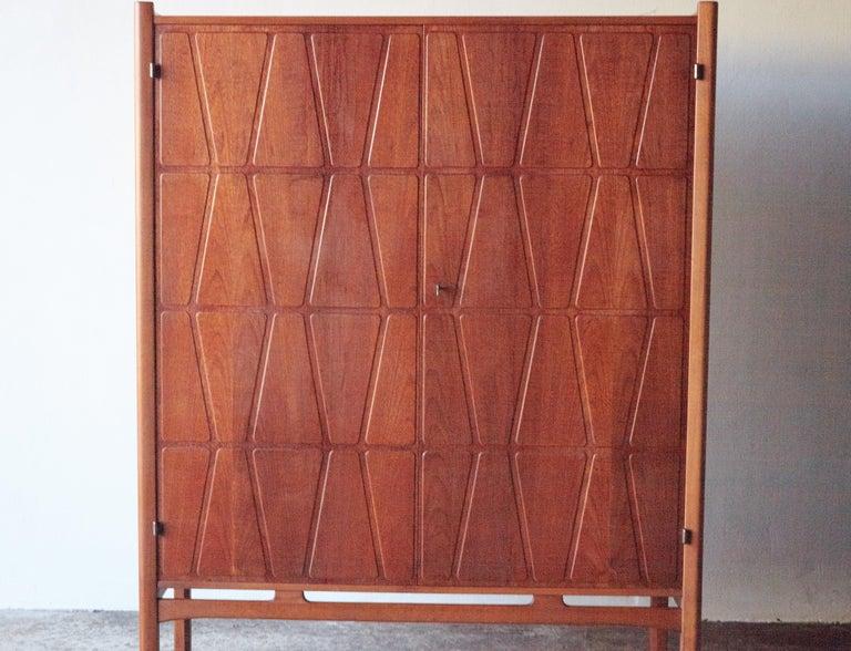 Mid-Century Modern Bangkok Cabinet by Yngve Ekström 'Ekstrom' for Westbergs Mobler, 1950s, Sweden For Sale