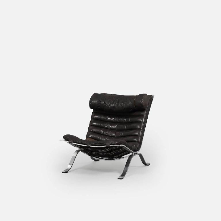 Arne Norell Ari Lounge Chair and Ottoman, 1970s, Sweden 4