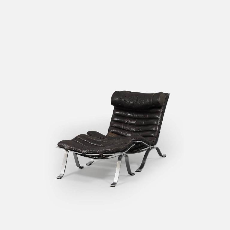 Arne Norell Ari Lounge Chair and Ottoman, 1970s, Sweden 3