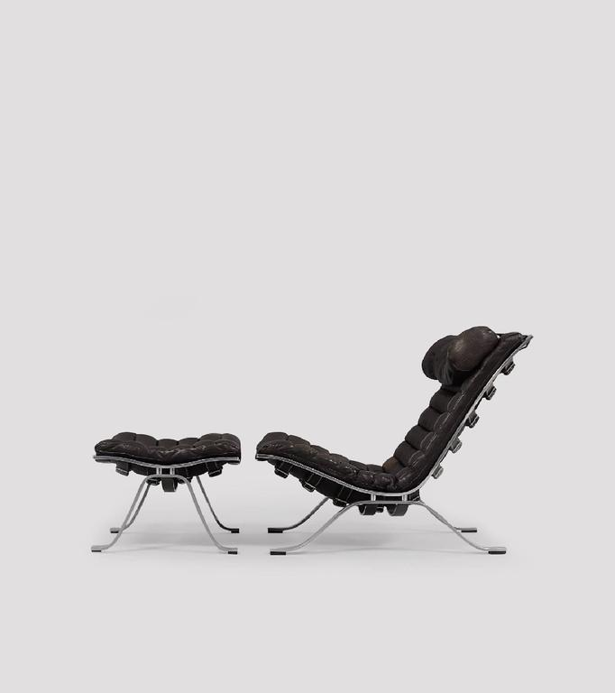 Arne Norell Ari Lounge Chair and Ottoman, 1970s, Sweden 2