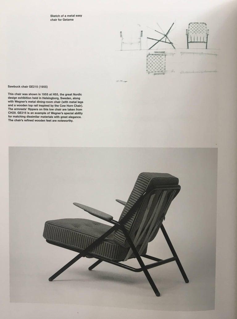 Rare Hans Wegner GE215 Sawbuck Chair, Denmark, 1950s For Sale 3