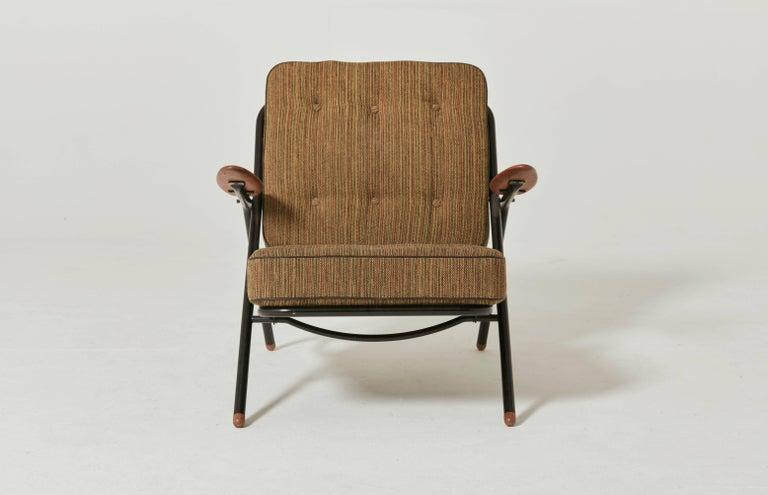 Mid-20th Century Rare Hans Wegner GE215 Sawbuck Chair, Denmark, 1950s For Sale