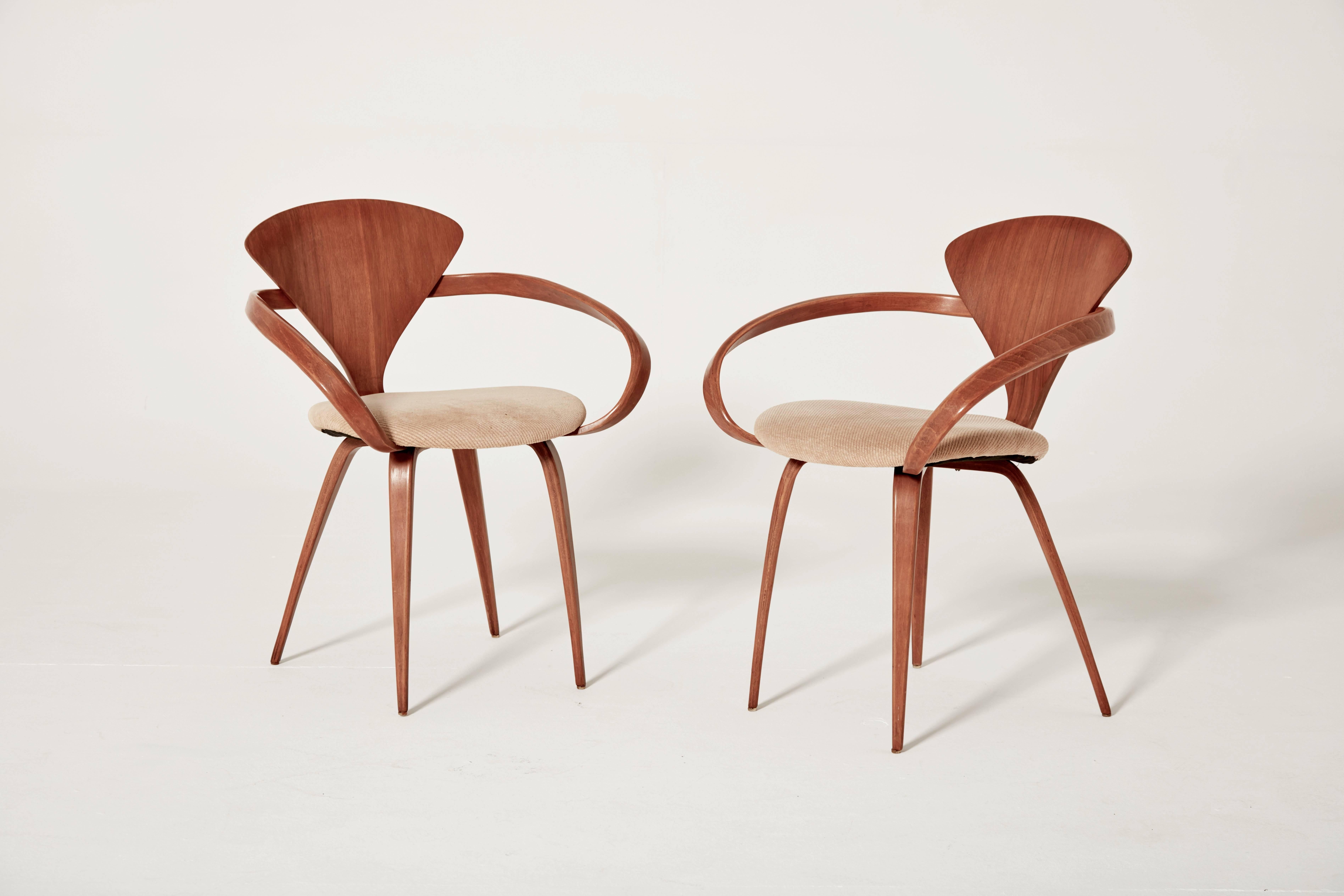 set of eight norman cherner dining chairs made by plycraft in the usa 1960s