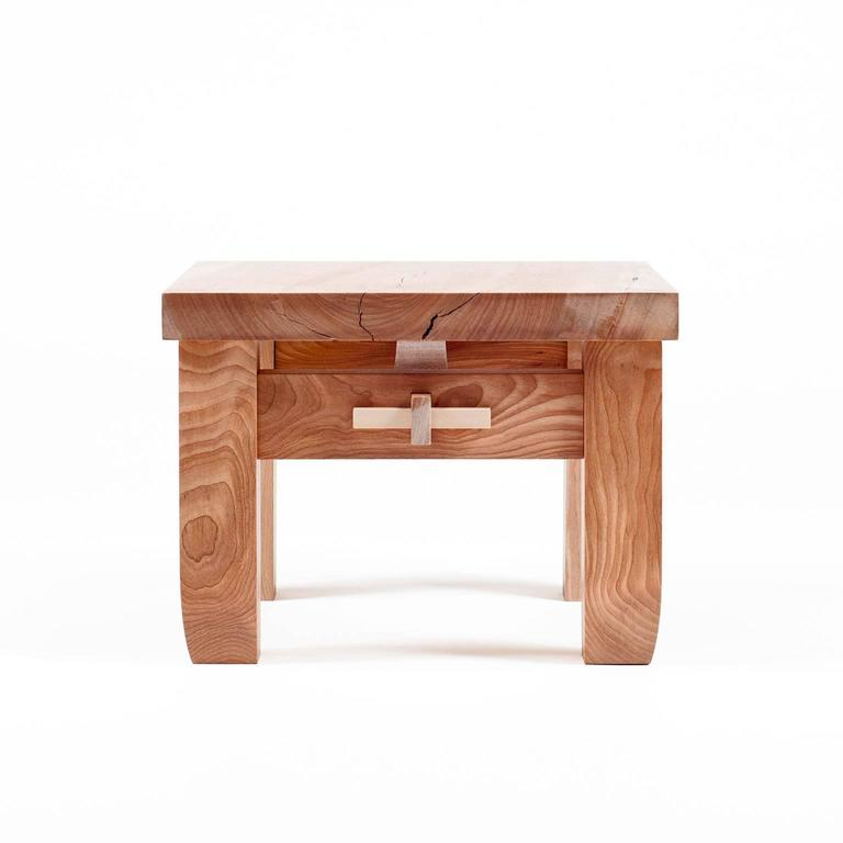 Contemporary Black Birch Hardwood Low Prayer Stool Set