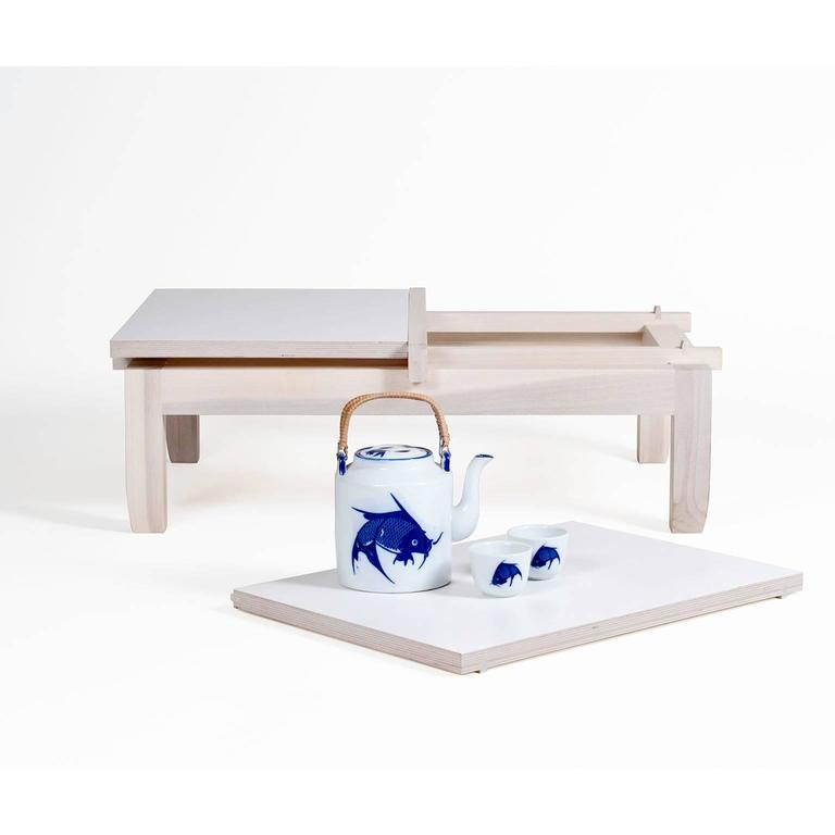 Coffee Table Tray Contemporary: Contemporary Low Coffee Table With Removable Tea Trays