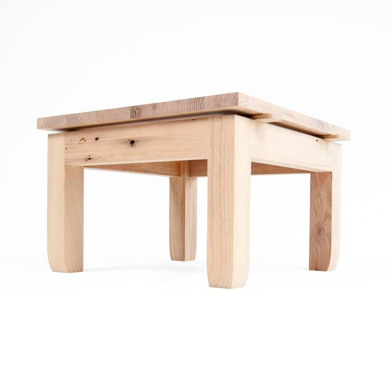 Modern Contemporary Hardwood Black Locust Outdoor Low Prayer Stool Made In  Brooklyn For Sale