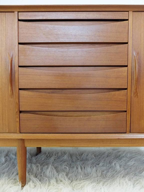Mid-20th Century 1960s Teak Sideboard Designed by Arne Vodder for Sibast Møbler, Denmark For Sale