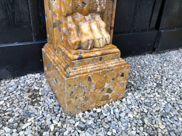 Beautiful French, 19th Century Charles X Chimney in Aleppo Breach Marble For Sale 1