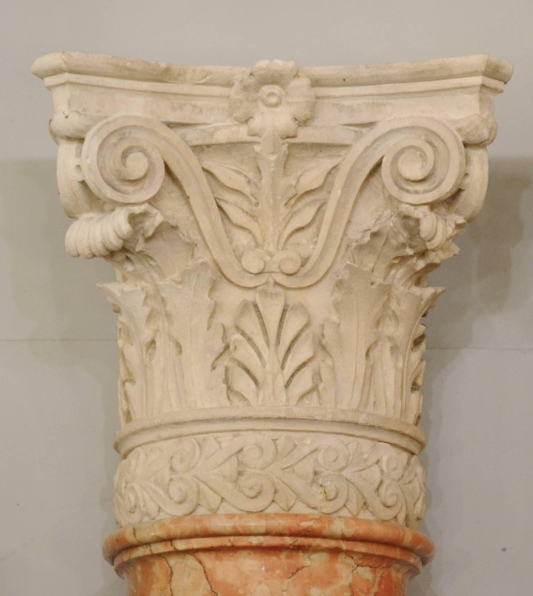 Set of Four 19th Century Half-Columns in Red Verona Marble and Vincenza Stone Or sold by pair at 18 000€.