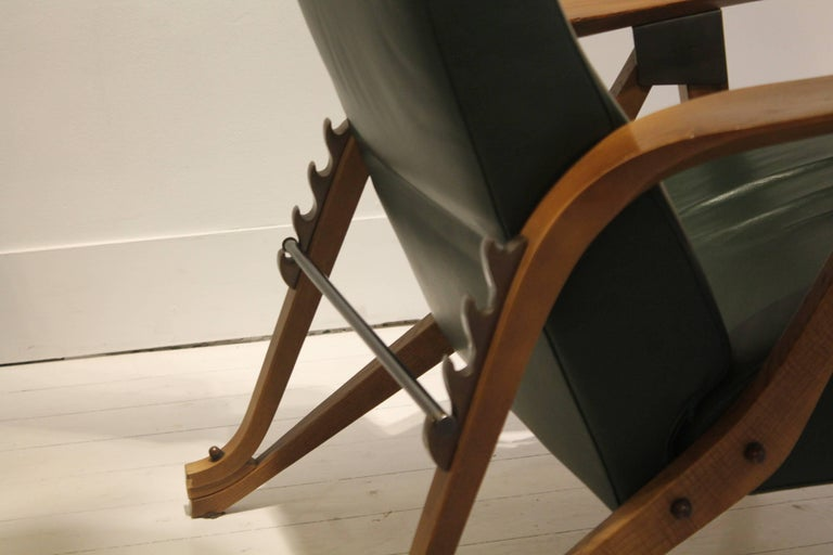 Italian 1980s Zanotta Italy Reissue of Carlo Mollino's Iconic 1950s Modulable Armchair For Sale