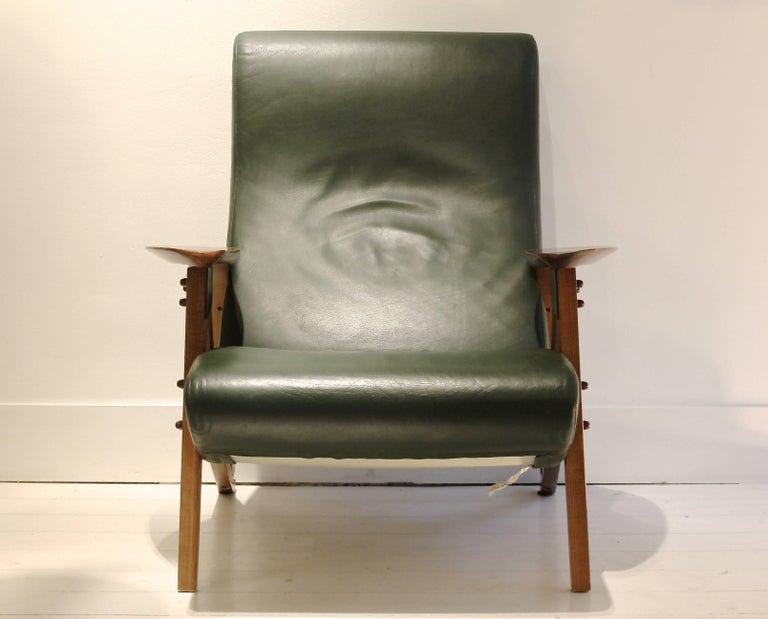 Mid-Century Modern 1980s Zanotta Italy Reissue of Carlo Mollino's Iconic 1950s Modulable Armchair For Sale