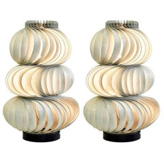 """Two Olaf von Bohr """"Medusa"""" Lamps, Valenti Editions, Italy, 1968"""