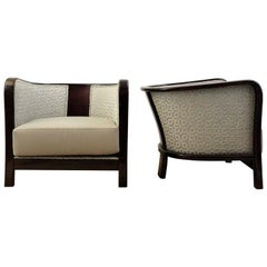 Pair of Beautifully Re-Upholstered Armchairs by Vittorio Valabrega