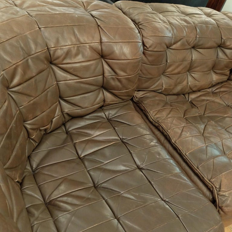 Mid-Century Modern Large De Sede DS-11 Modular Patchwork Sofa, 1970s For Sale