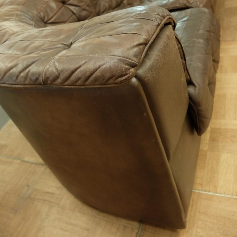 Large De Sede DS-11 Modular Patchwork Sofa, 1970s In Good Condition For Sale In Brussels, BE