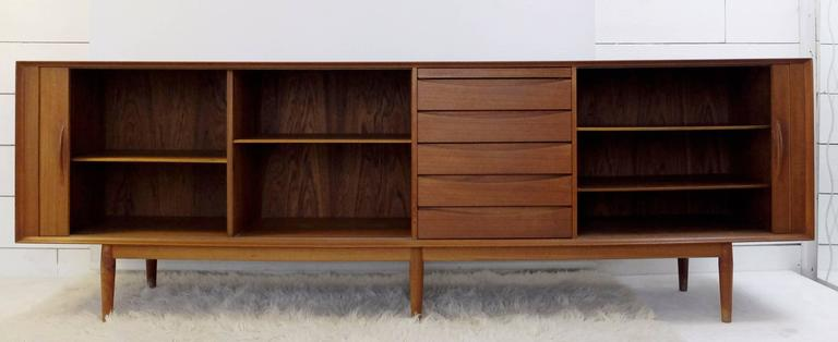 Scandinavian Modern 1960s Teak Sideboard Designed by Arne Vodder for Sibast Møbler, Denmark For Sale
