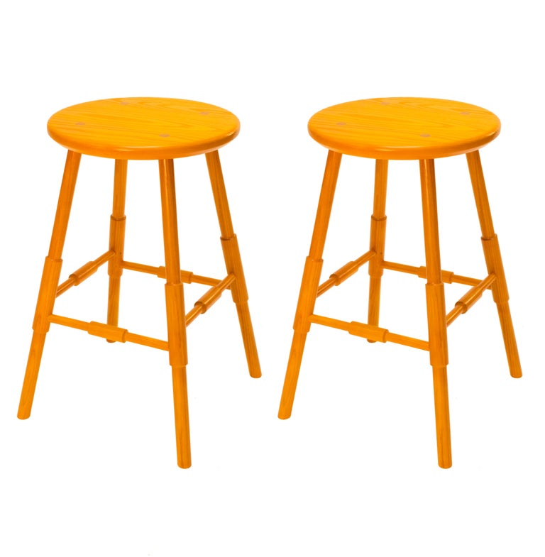 Pair Of Atlantic Counter Stools In Turmeric Stain On Ash