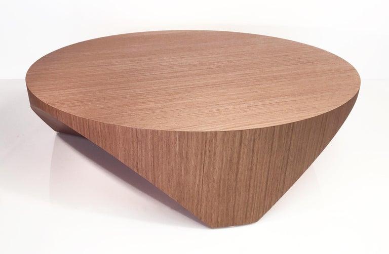 American Barrens Modernist Tree Stump Series, Cocktail Table in Italian Walnut For Sale