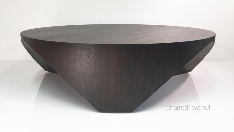 Contemporary Barrens Modernist Tree Stump Series, Cocktail Table in Italian Walnut For Sale