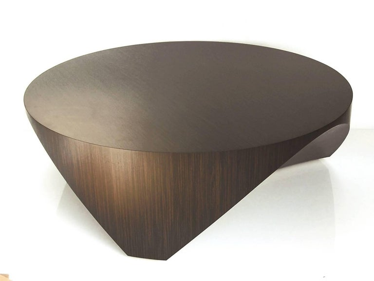 William Earle The Barrens round wood cocktail table design 2010 2
