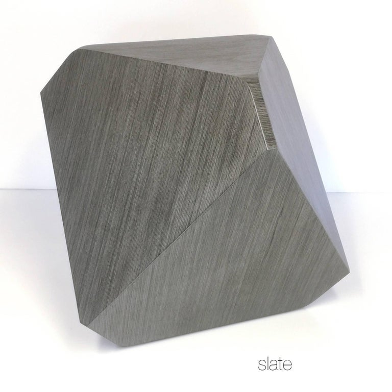 William Earle Hal Faceted Stool Or Side Table In Slate For