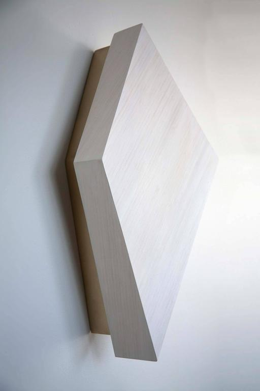 Diamond Sconce: Geometric Lighting in Bamboo and Brass 3