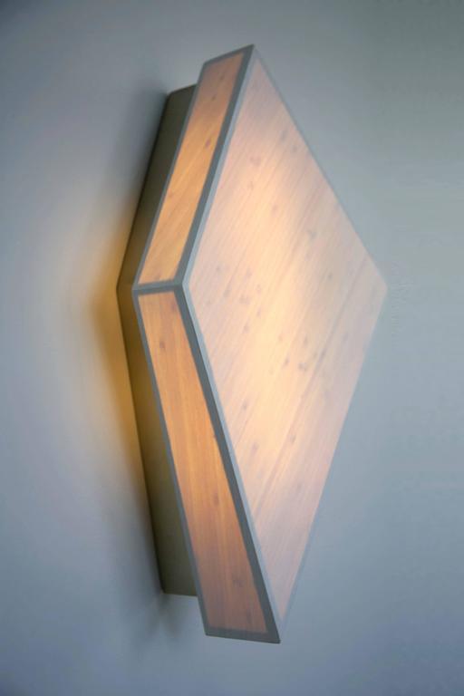 Diamond Sconce: Geometric Lighting in Bamboo and Brass 8