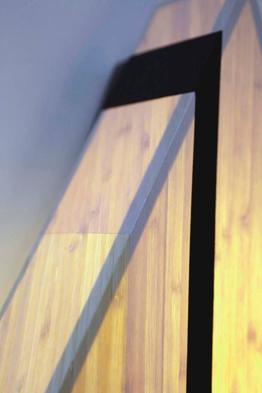 Diamond Sconce: Geometric Lighting in Bamboo and Brass 9