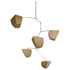 Ivy 5-D2EEFF, a Mobile Chandelier in Bamboo and Brass