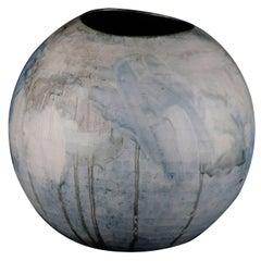 Two Matching Handmade Cast Porcelain Vessels