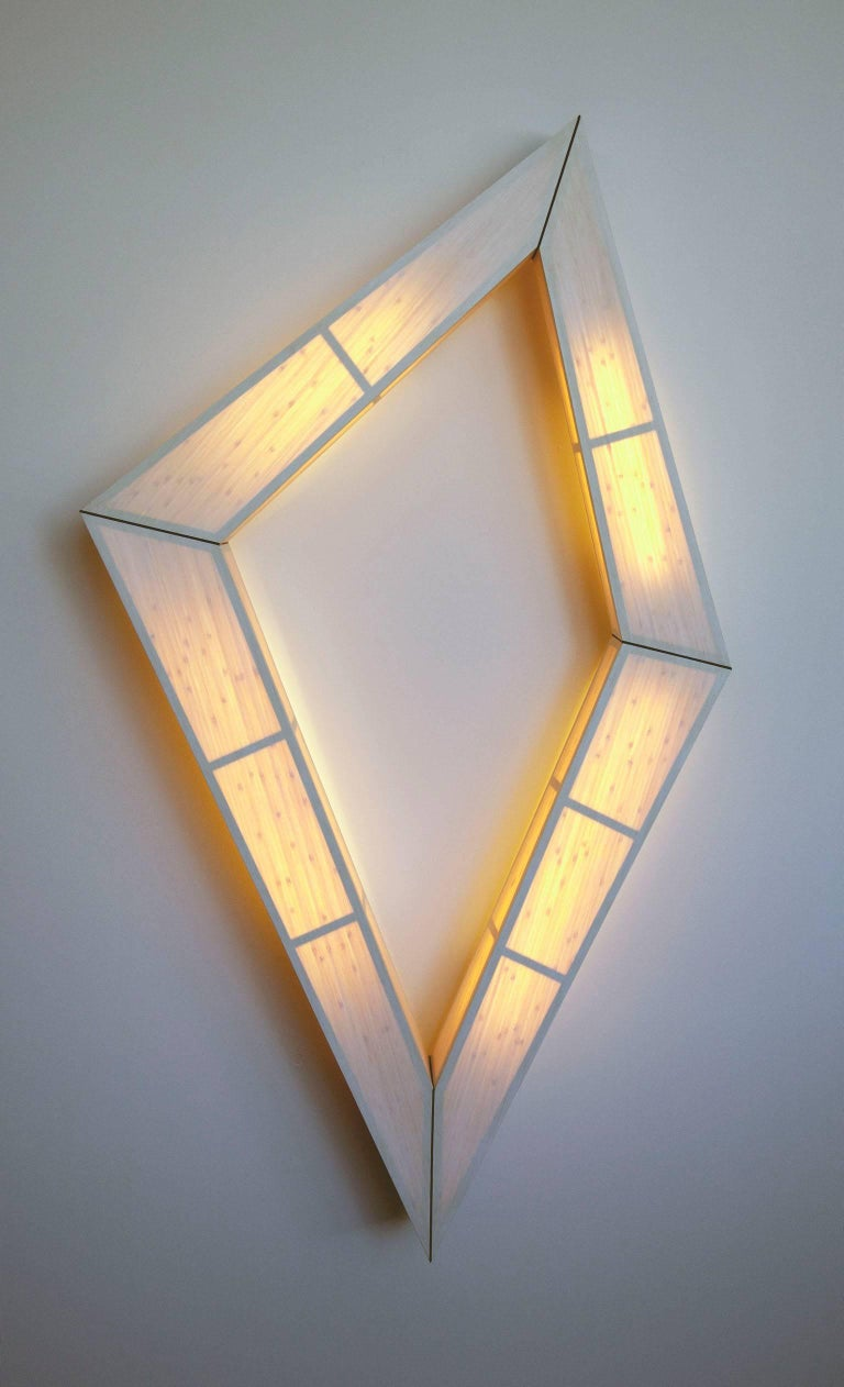 Contemporary Diamond Illuminate: wall mounted light sculpture For Sale