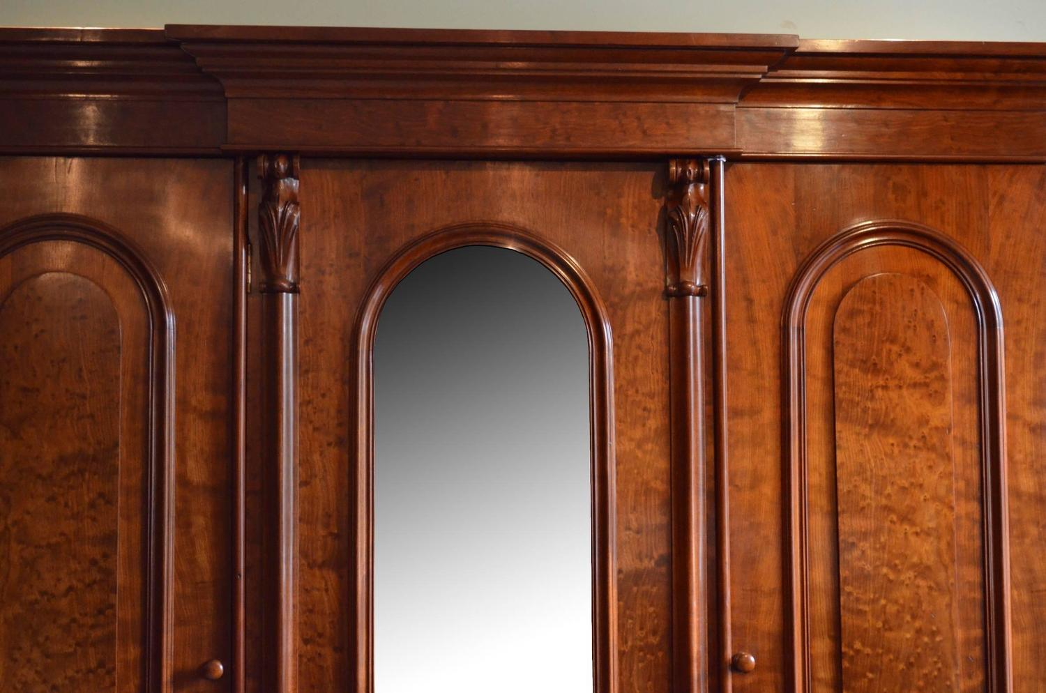 994 #AF5019 Fine Quality Victorian Mahogany Wardrobe Three Door Wardrobe For Sale  pic Quality Entry Doors 43411500