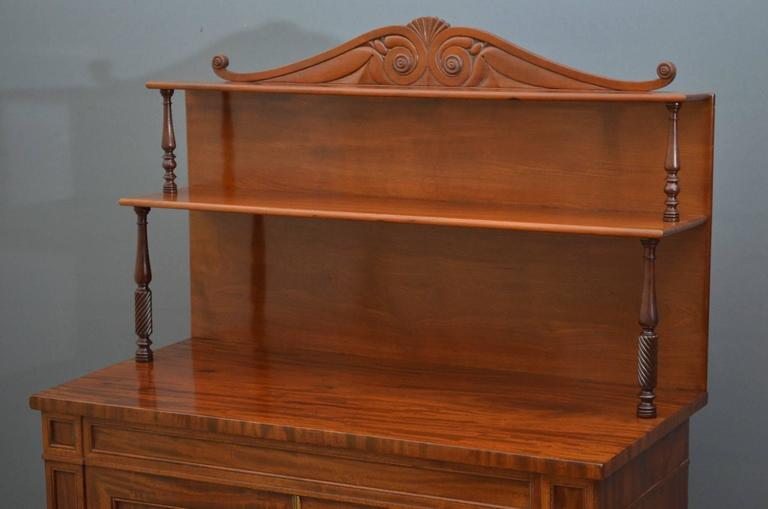 William Iv Mahogany Chiffonier Two Door Sideboard For Sale At 1stdibs