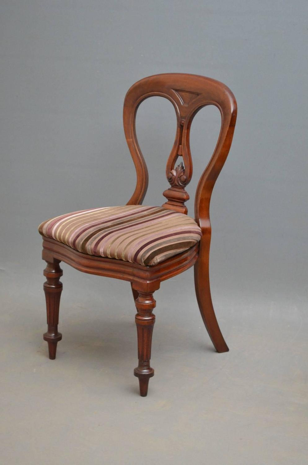 quality set of 12 victorian mahogany dining chairs by j reilly for