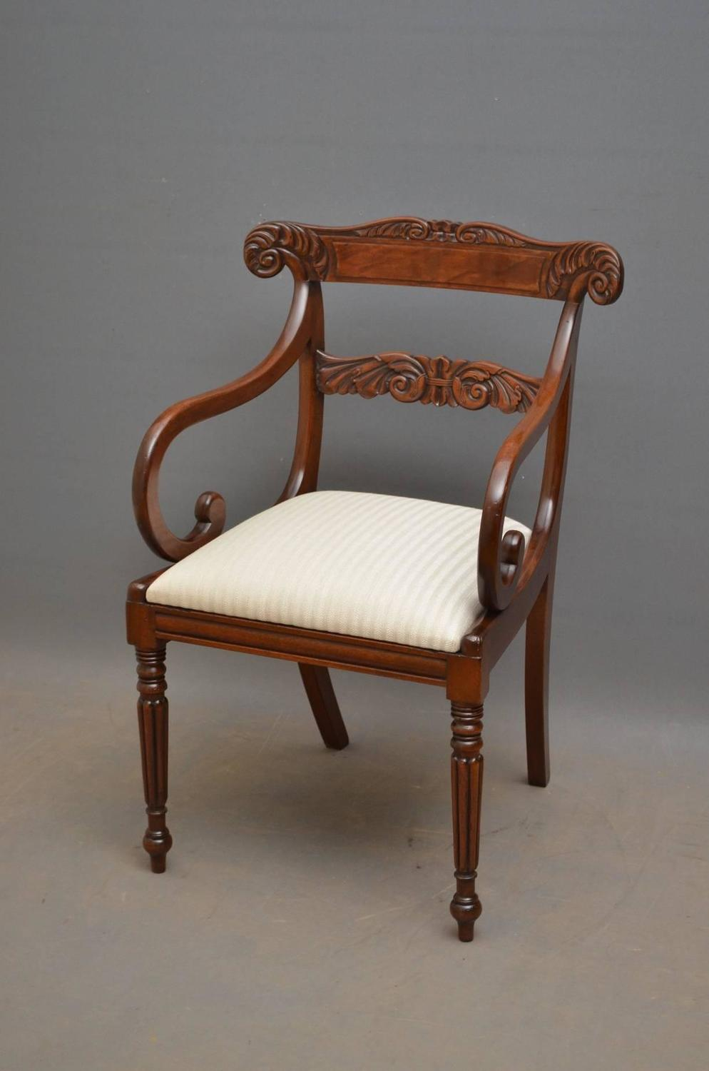 Exceptional Set Of Eight William Iv Dining Chairs For Sale