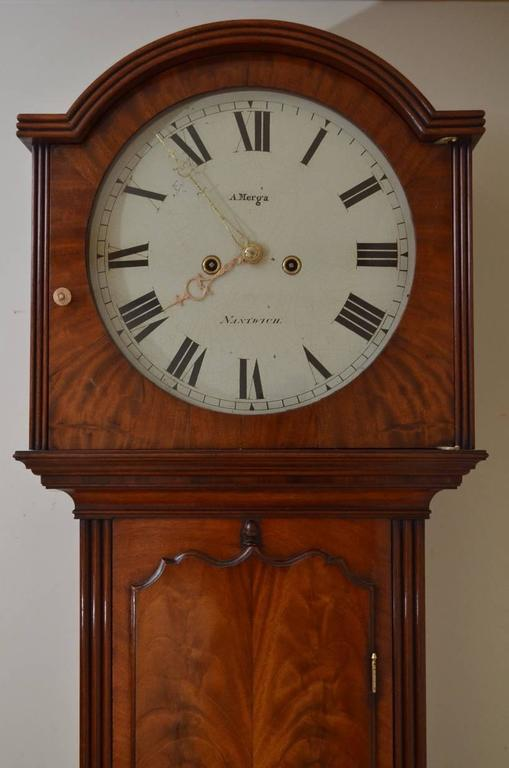 Fine and unusual george iii wall clock by a merga for Unique clocks for sale