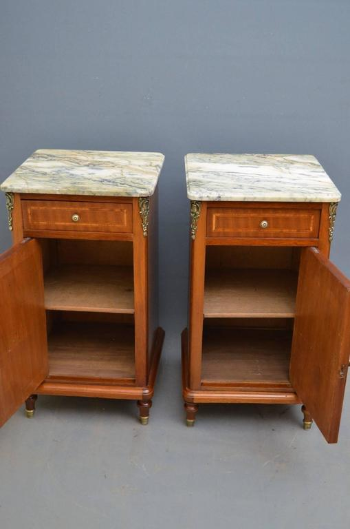 Continental pair of bedside cabinets in mahogany for sale at 1stdibs for Continental furniture company bedroom