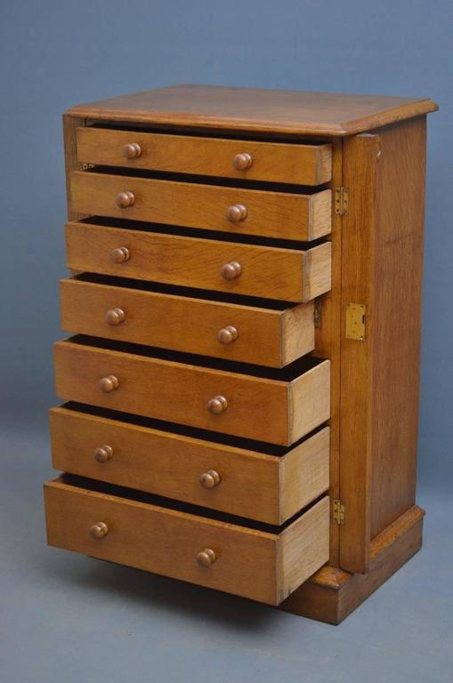 Victorian Oak Wellington Chest of Drawers 1