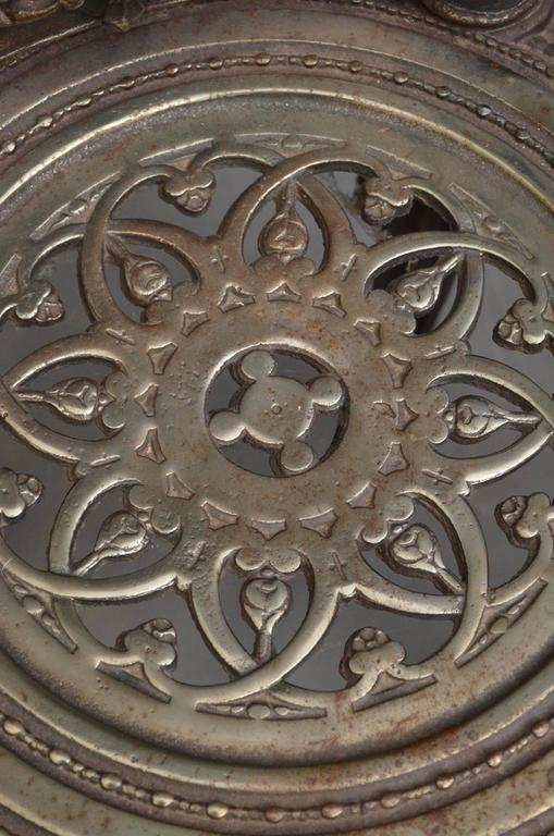 Pair of Decorative Cast Iron Chairs For Sale 3
