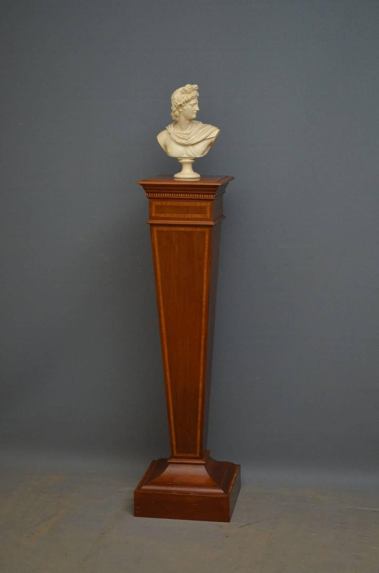 Edwardian Mahogany And Inlaid Torchere For Sale At 1stdibs