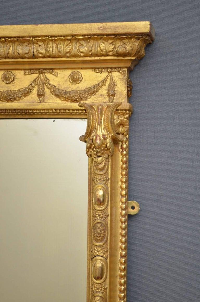 Elegant Victorian Full Length Giltwood Mirror At 1stdibs