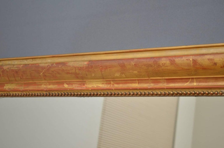 Victorian Exceptional 19th Century Wall Gilt Mirror For Sale