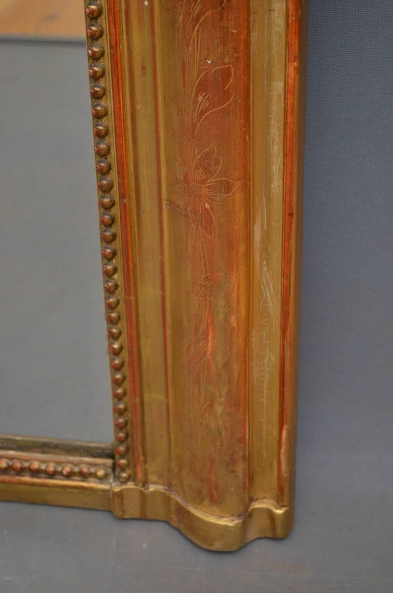 Exceptional 19th Century Wall Gilt Mirror For Sale 3