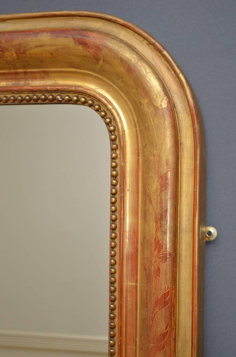 Late 19th Century Exceptional 19th Century Wall Gilt Mirror For Sale