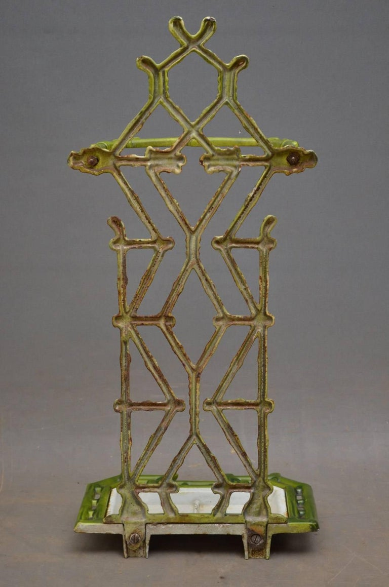 Late 19th Century Victorian Period Faux Bamboo Umbrella Stand For Sale