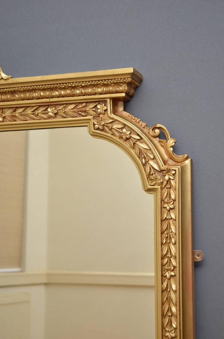 English Victorian Overmantel Mirror For Sale 1