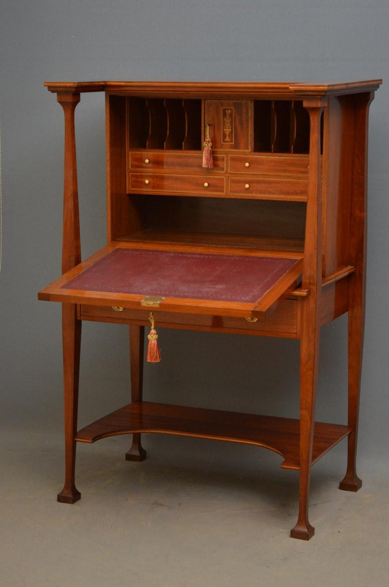Arts and Crafts Walnut Bureau in the Manner of Shapland and Petter ...