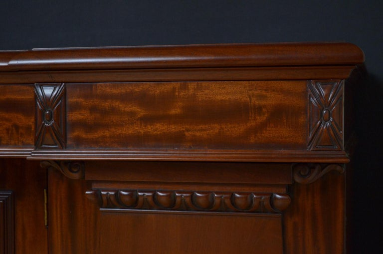 Superb Quality William IV Mahogany Sideboard For Sale 6