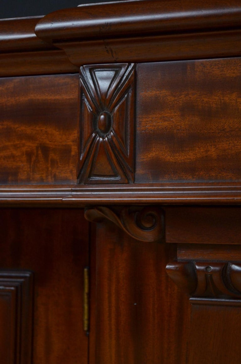 Superb Quality William IV Mahogany Sideboard For Sale 7